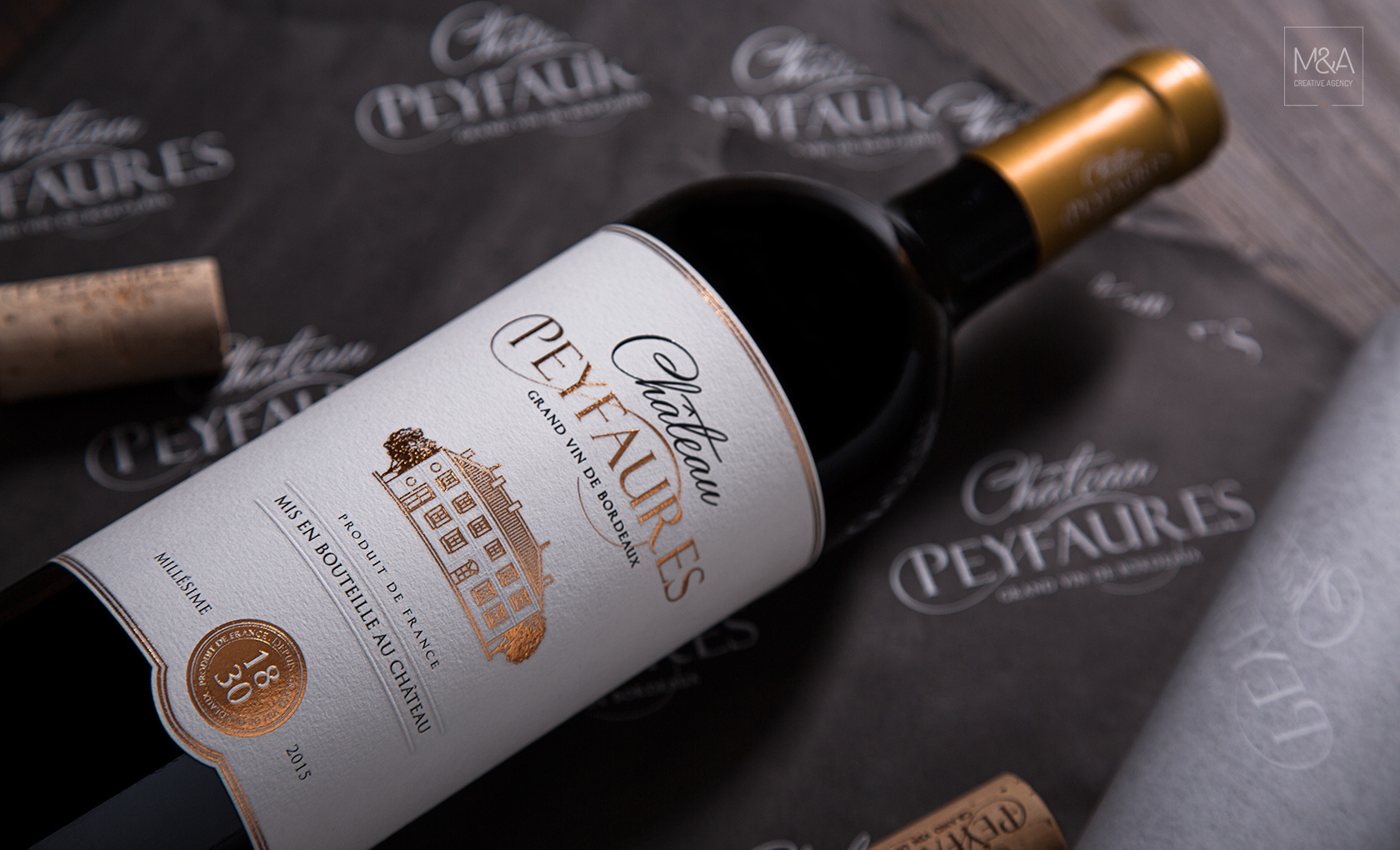 Luxury Fine Wine Rebranding and Packaging Design of Château Peyfaures Bordeaux