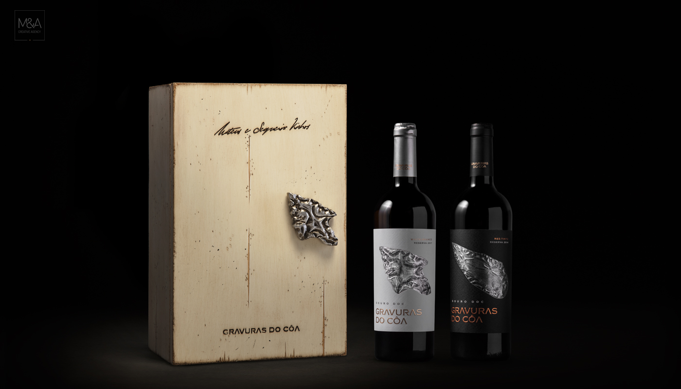Wine and Prehistoric Rock Art in The Côa Valley Packaging Design