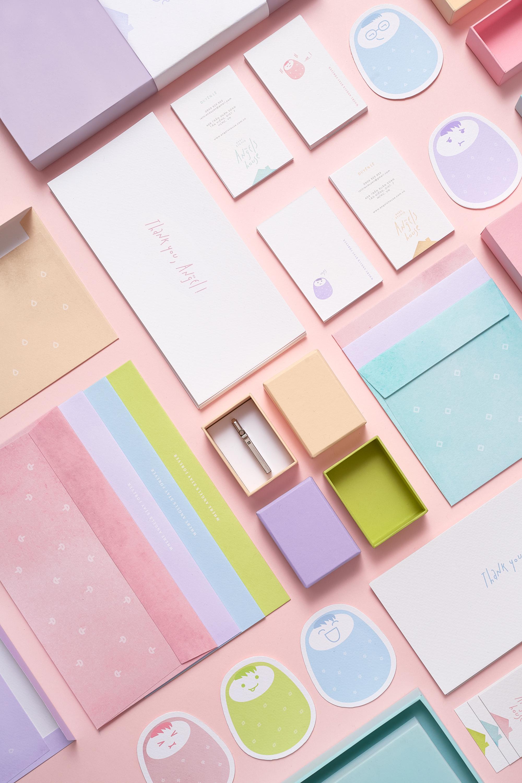 M — N Associates – Angels House Baby Studio   Branding & Packaging System