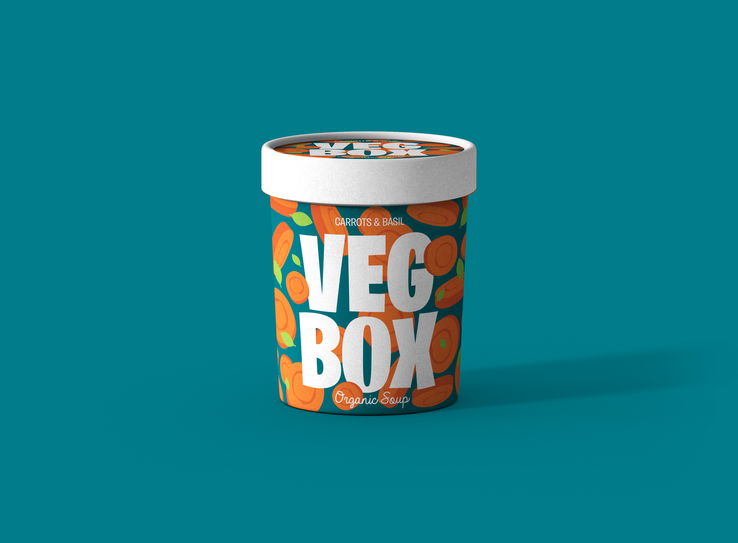 Veg Box Packaging Design for an Independent Organic Soup Brand Made in Italy