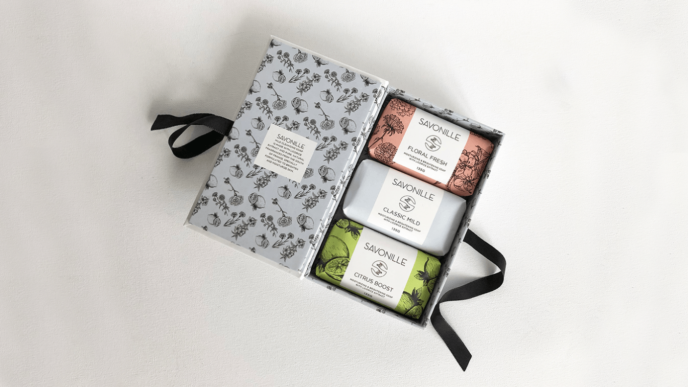 French-Inspired Brand and Packaging for Bath Soaps from Manila
