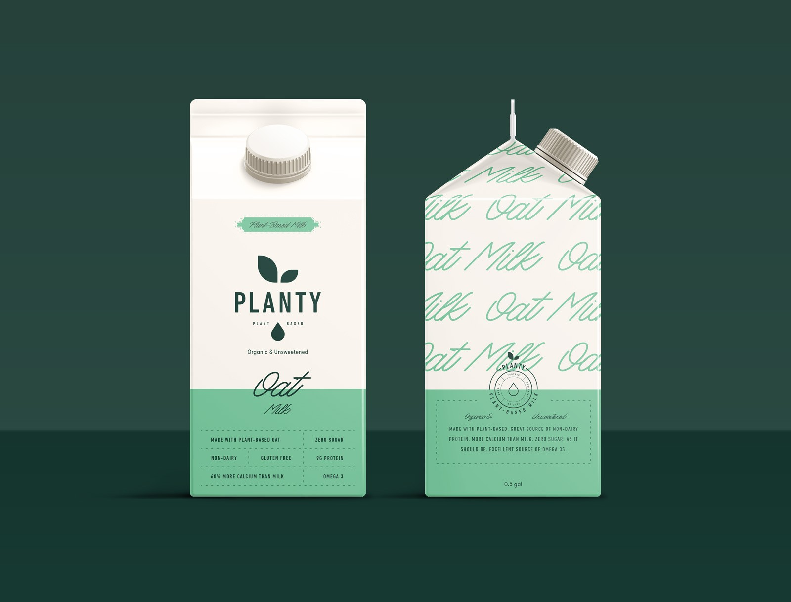 Branding and Packaging for Planty Plant Based Milk