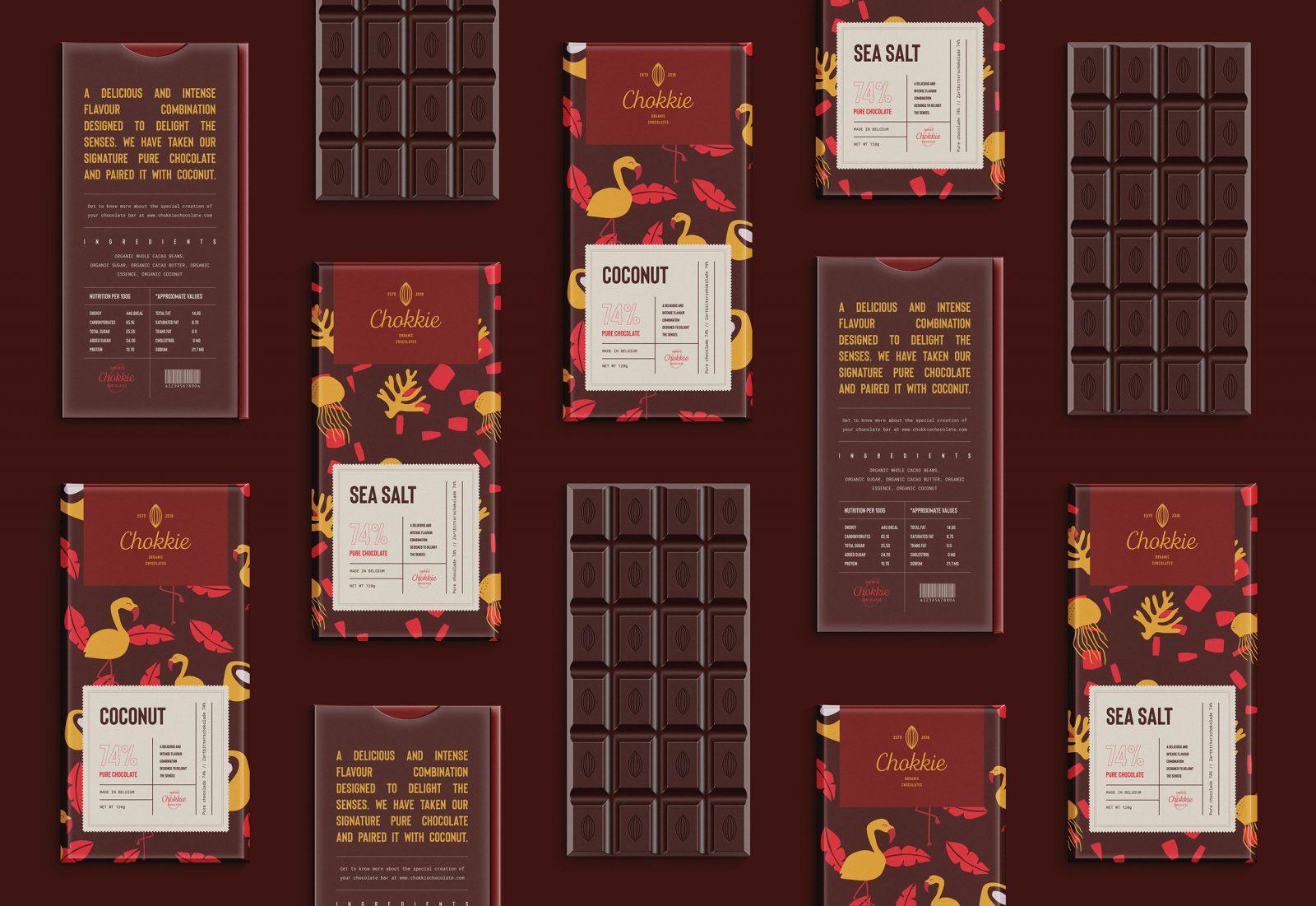 Brand Identity for Chokkie Organic Chocolates