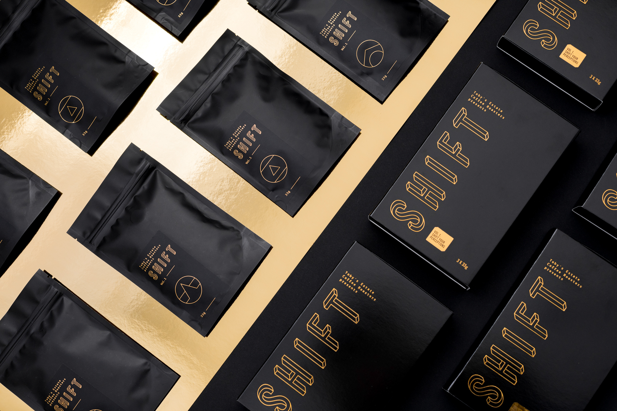 Packaging for Shift Coffee by Toby's Estate Cofee Roasters