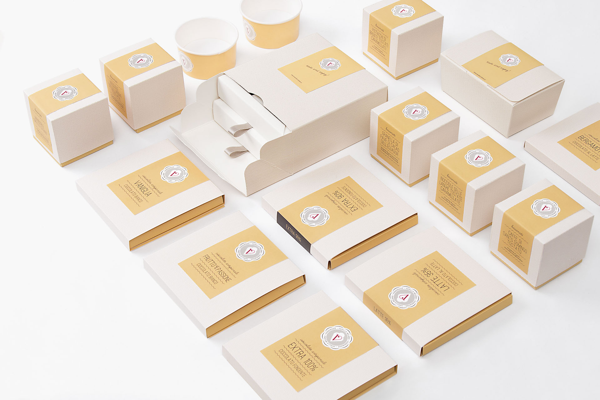 Homemade Ice-Cream Shop, Patisserie and Coffee Bar Branding and Packaging Design