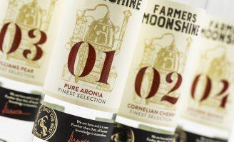 Packaging for Farmers Moonshine Brandy