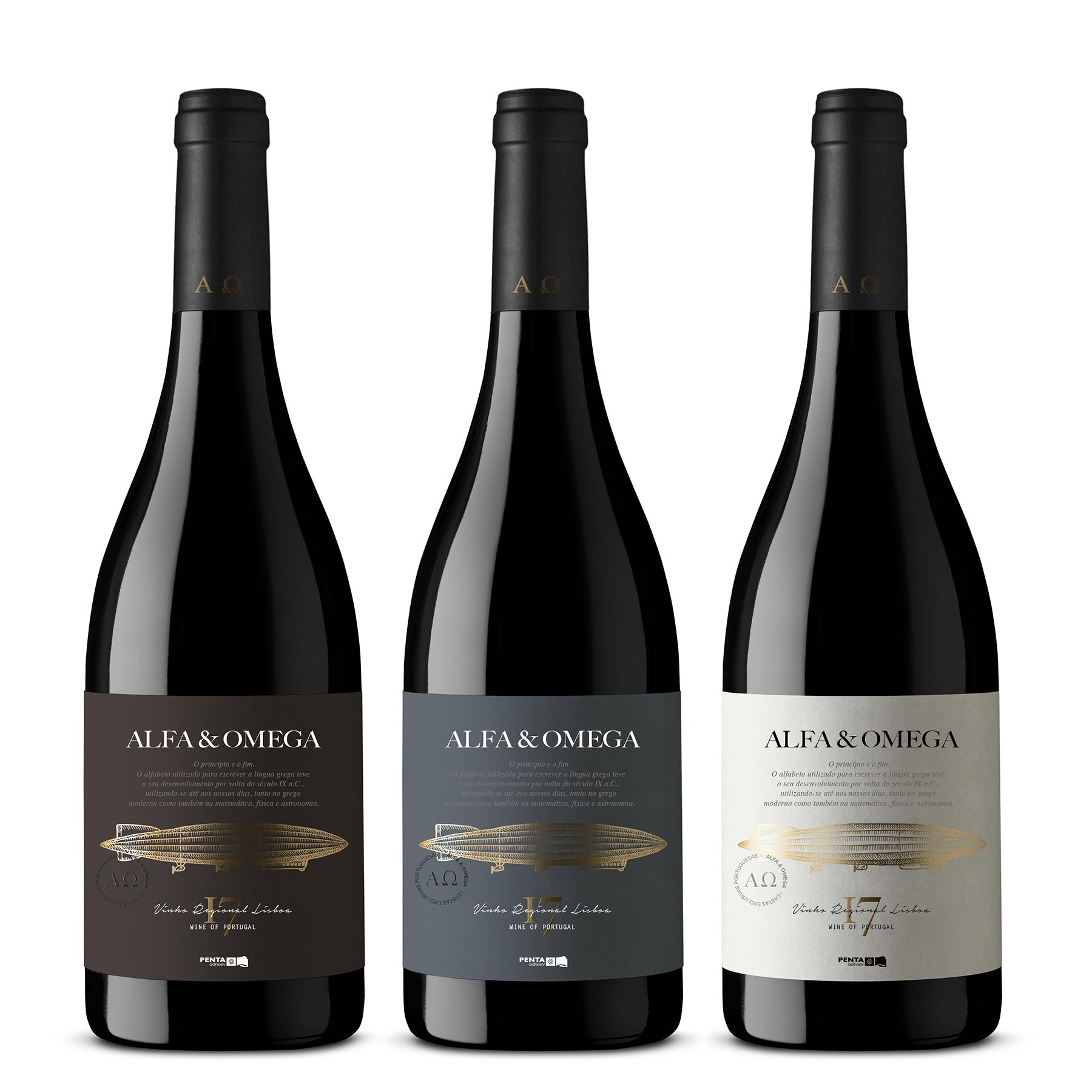 Wine Label Alfa & Omega from Portugal