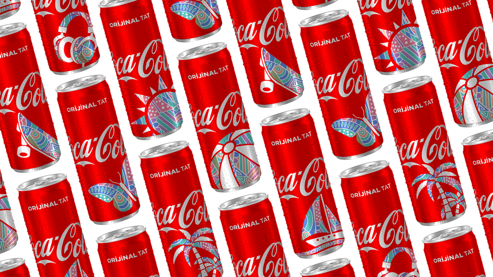 New Technology Inspired Creative Solution for Coca-Cola Cans for Turkish Market