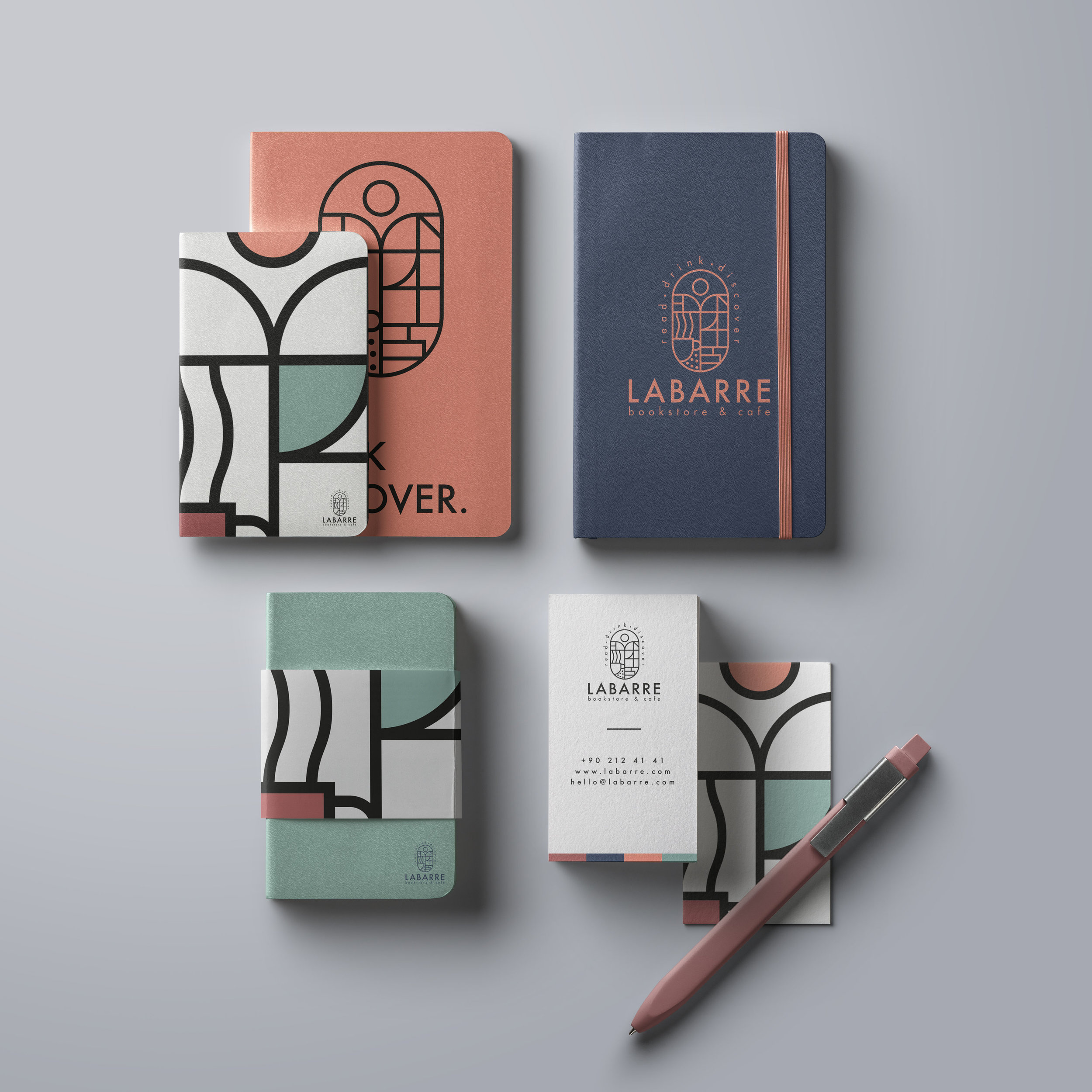 Branding and Packaging for Bookstore and Cafe from Turkey