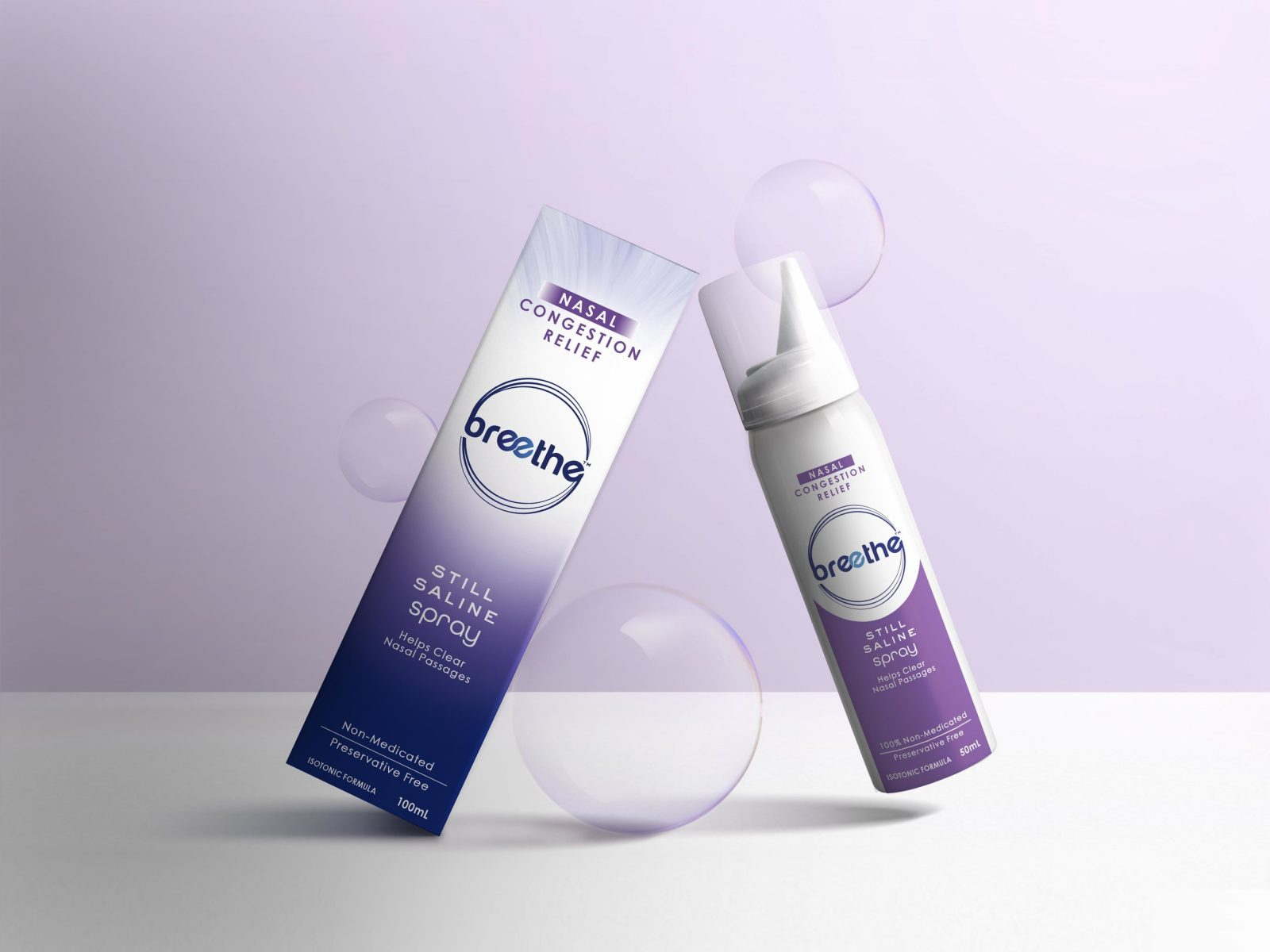 Breethe Nasal Spray Brand and Packaging Development