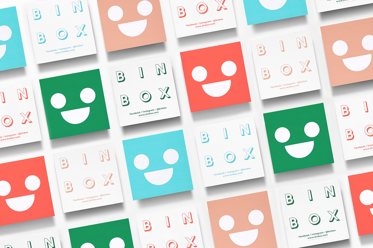 "Brand Design for ""Binbox"" Coffee Shop by Parámetro Studio"