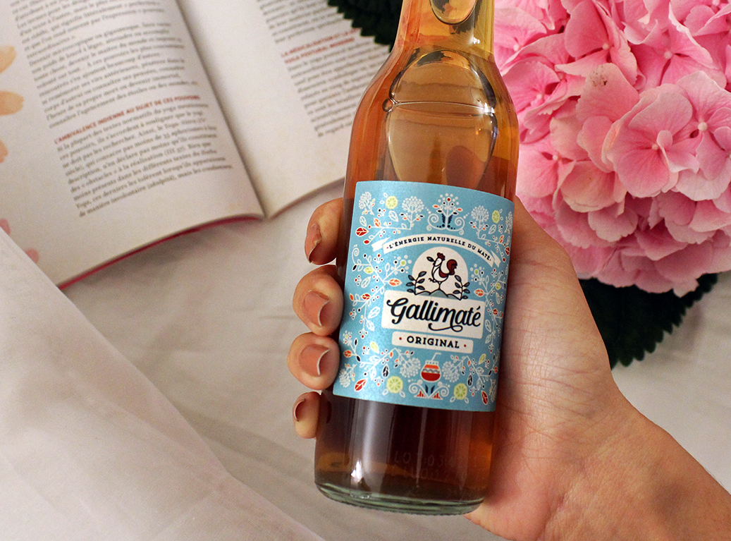 Floral Label Design for Healthy Soft Drinks from France