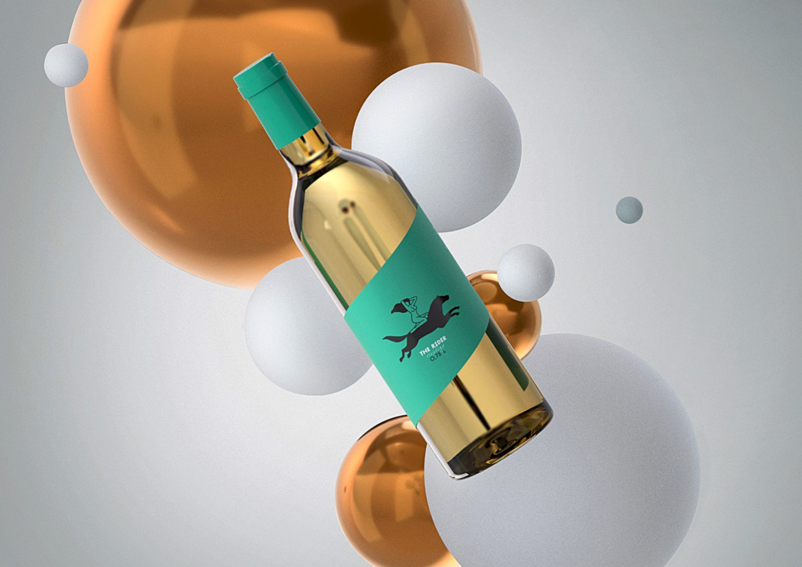 Modern, Minimalistic and Youthful Riesling Packaging Design