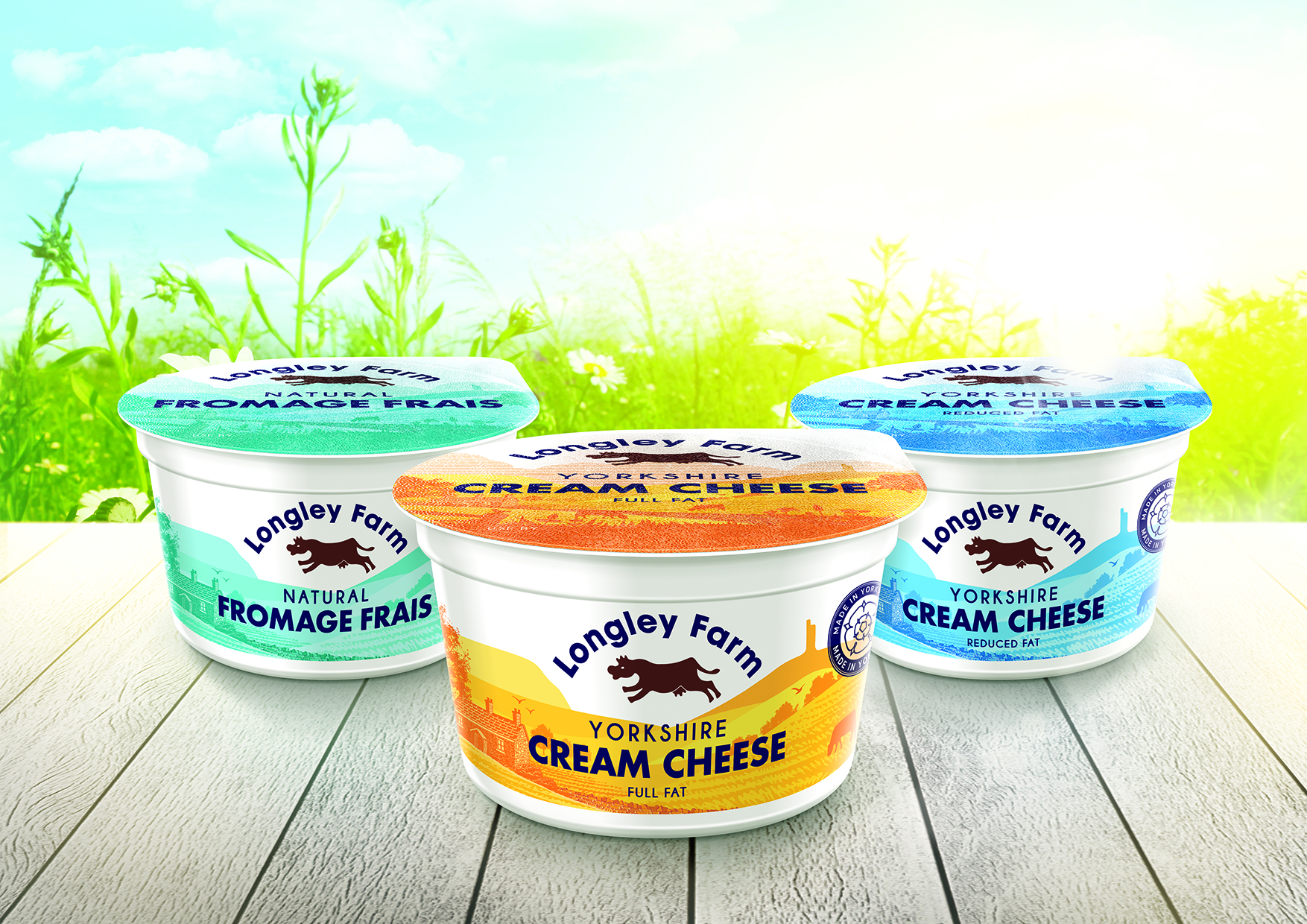 New Rebrand Packaging Design for Longley Farm for UK Market
