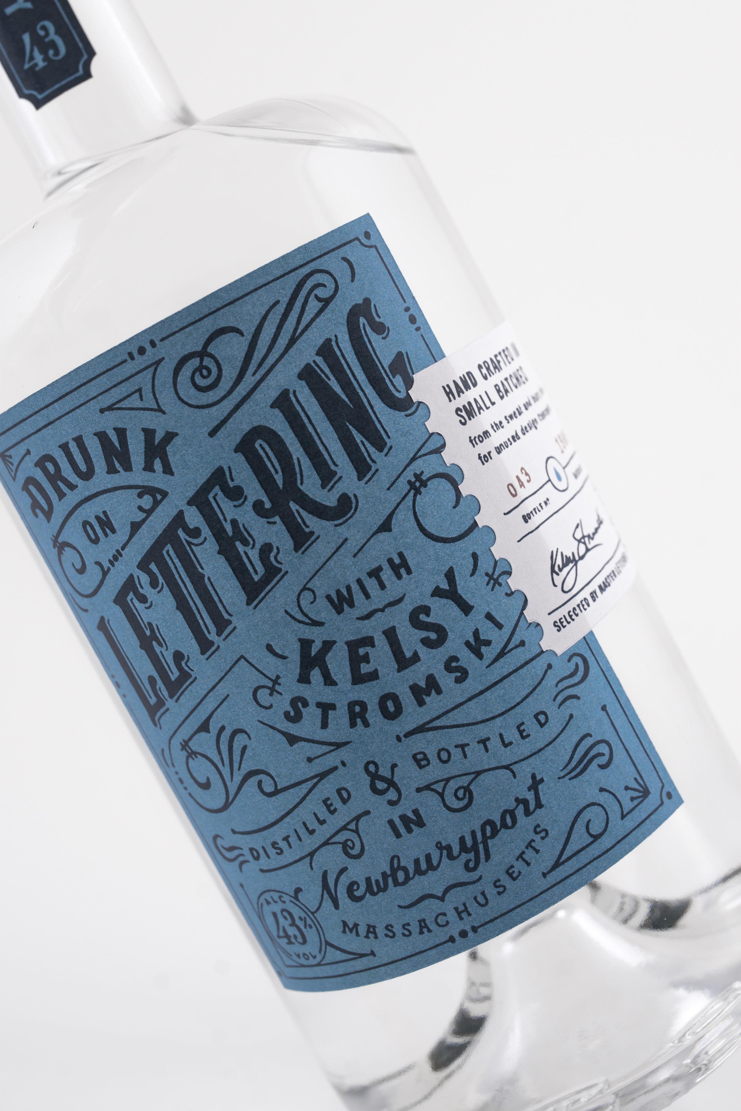 Self Published Hand-lettered Label Designed to Promote Lettering Podcast