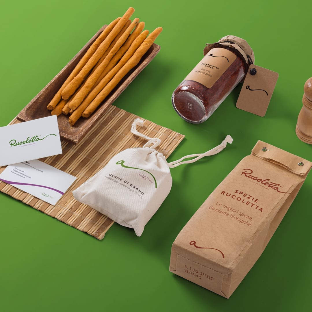 Brand Identity for Rucoletta, Vegan Fast Food