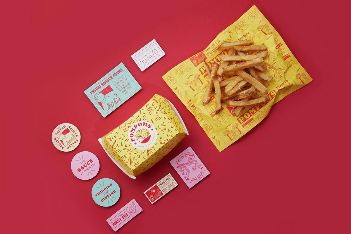 Branding and Packaging Design for Fast Casual Restaurant that Cooks Up Fresh & Delicious Fries the Old Fashioned Way