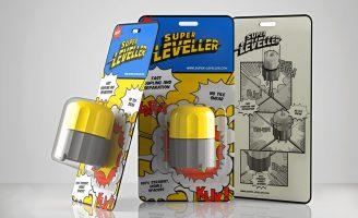 """""""Super Leveller"""" Ceramic Tile Leveller Packaging Design"""