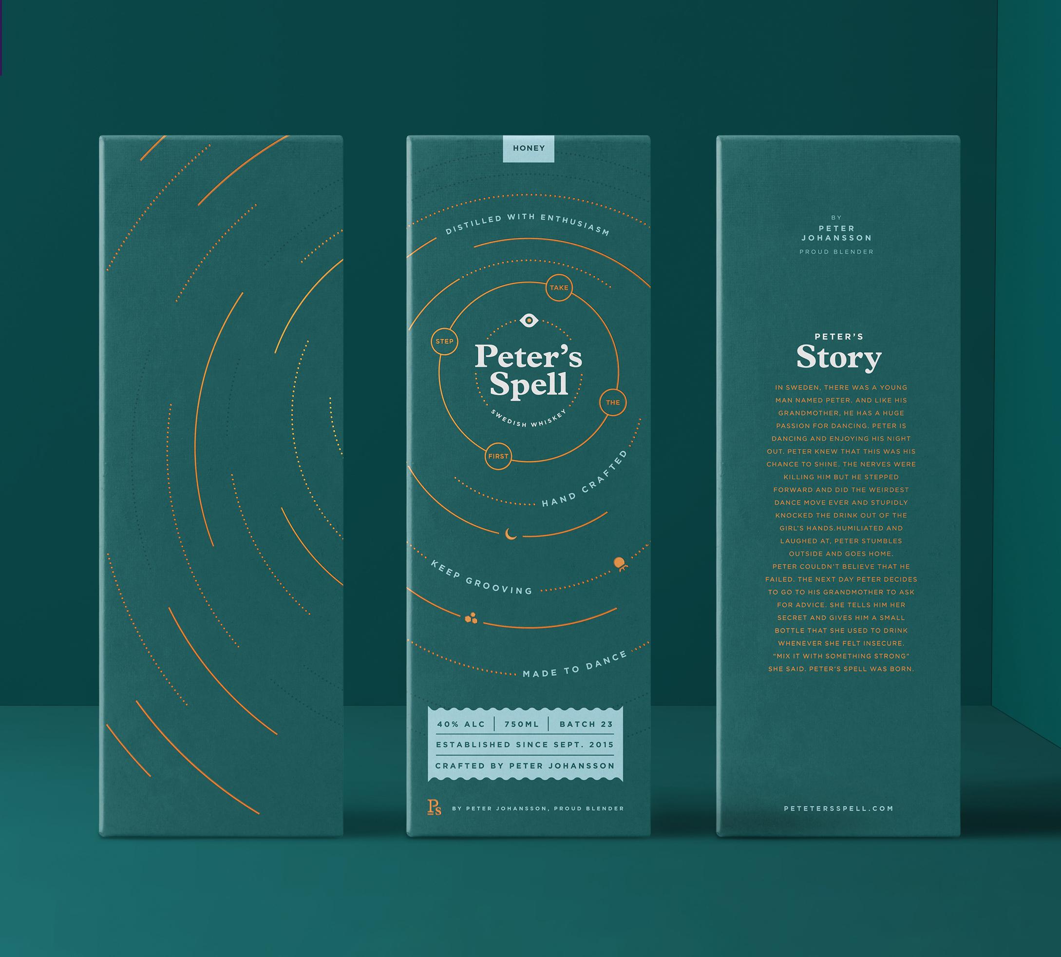 Peter Spell's Wiskey Packaging