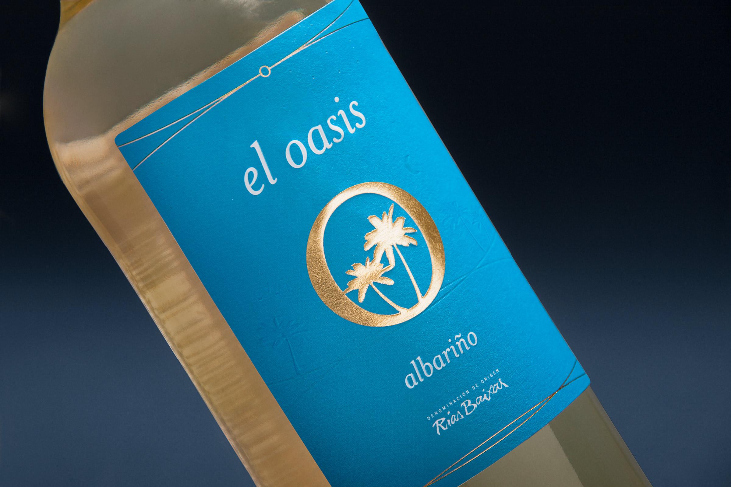 White Wine Label Design for El Oasis