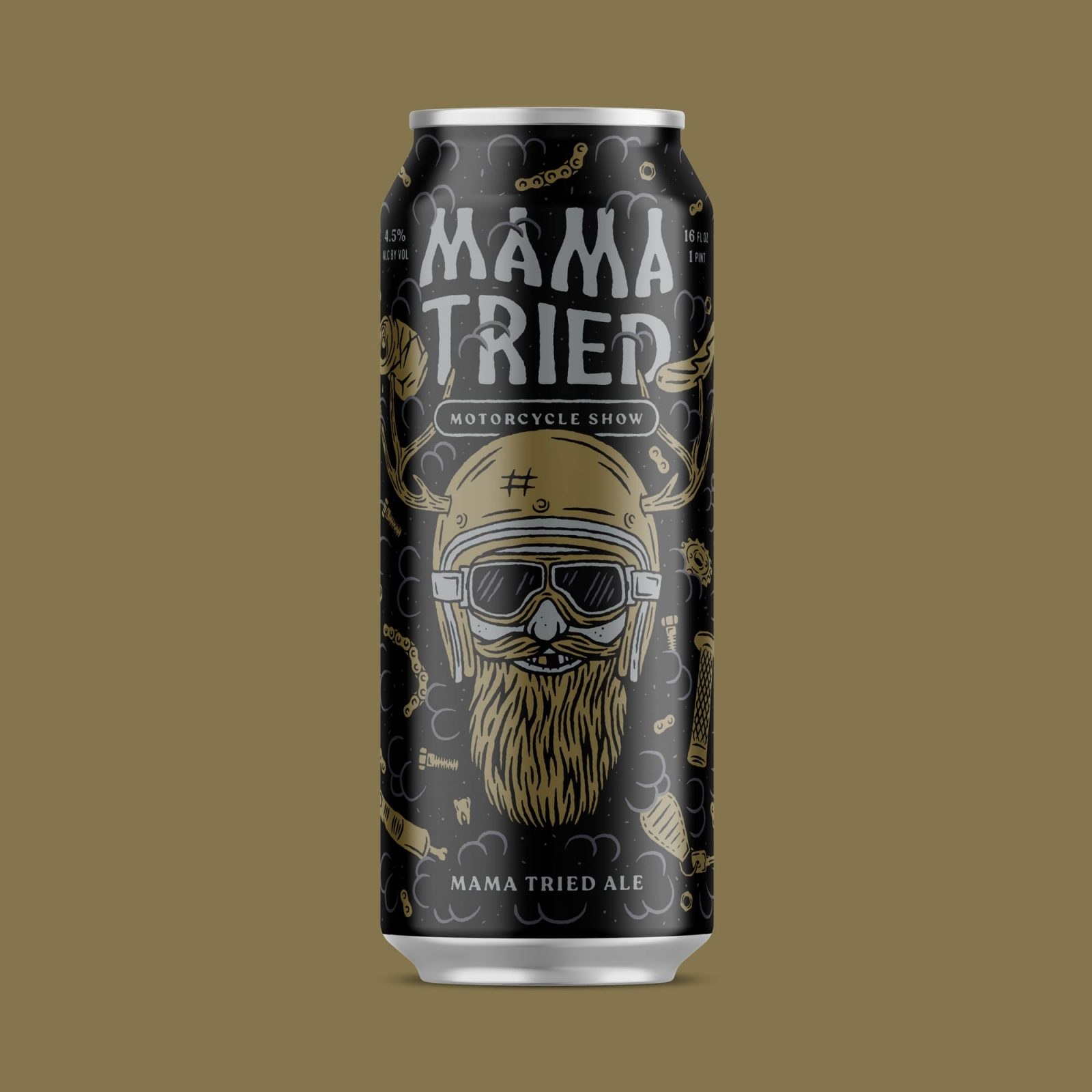 Packaging for Mama Tried Ale by Good City Brewing