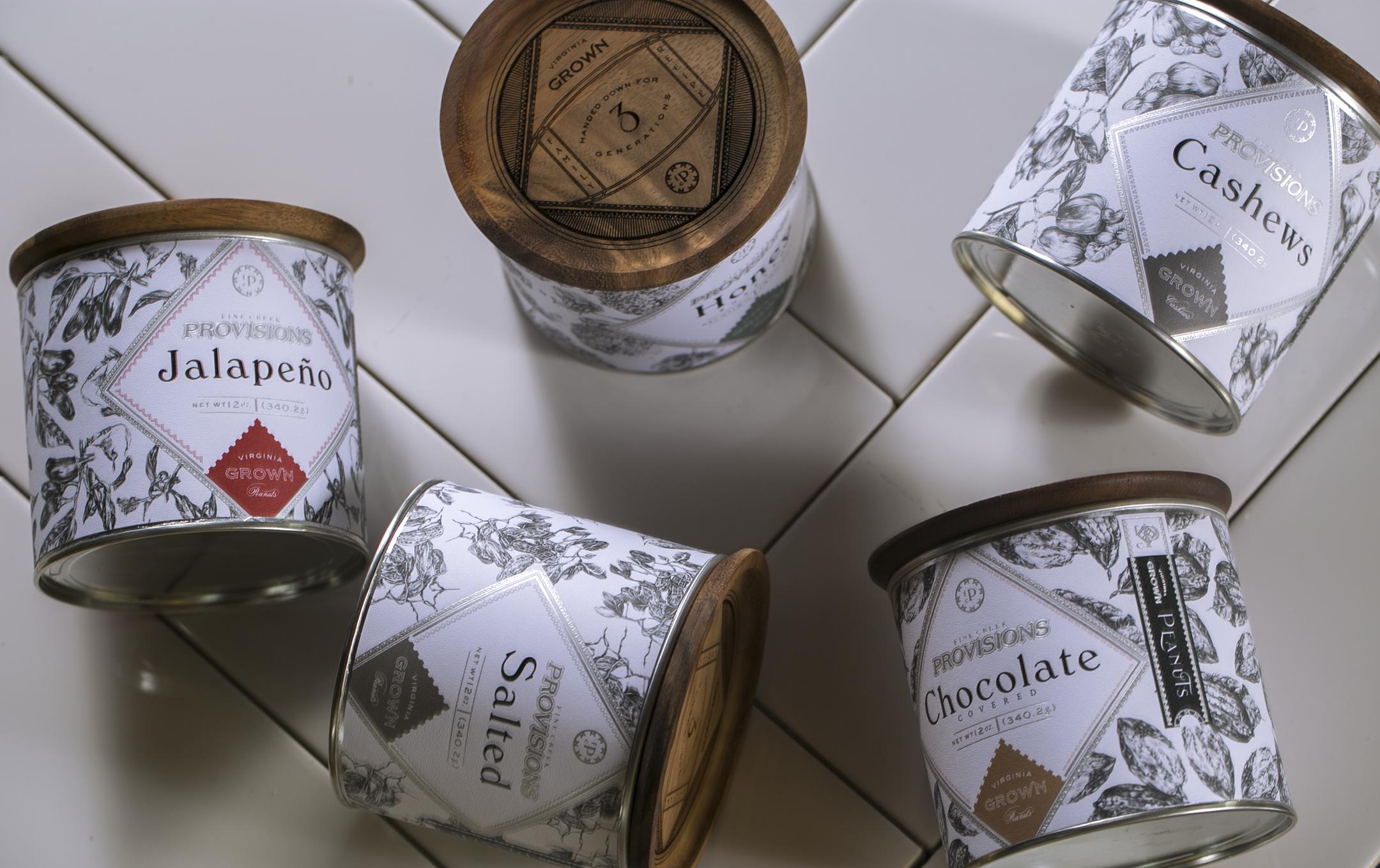 Gourmet Brand and Packaging Design for Virginia Grown Peanuts