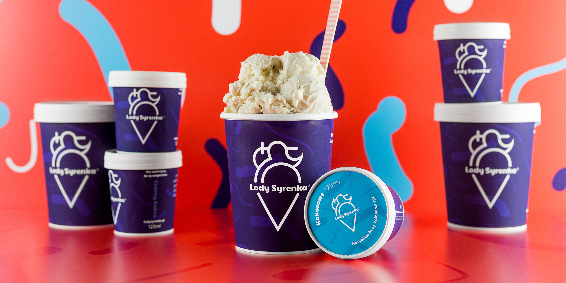 Visual Brand Identity System and Packaging Design for Small Polish Ice Cream Producer
