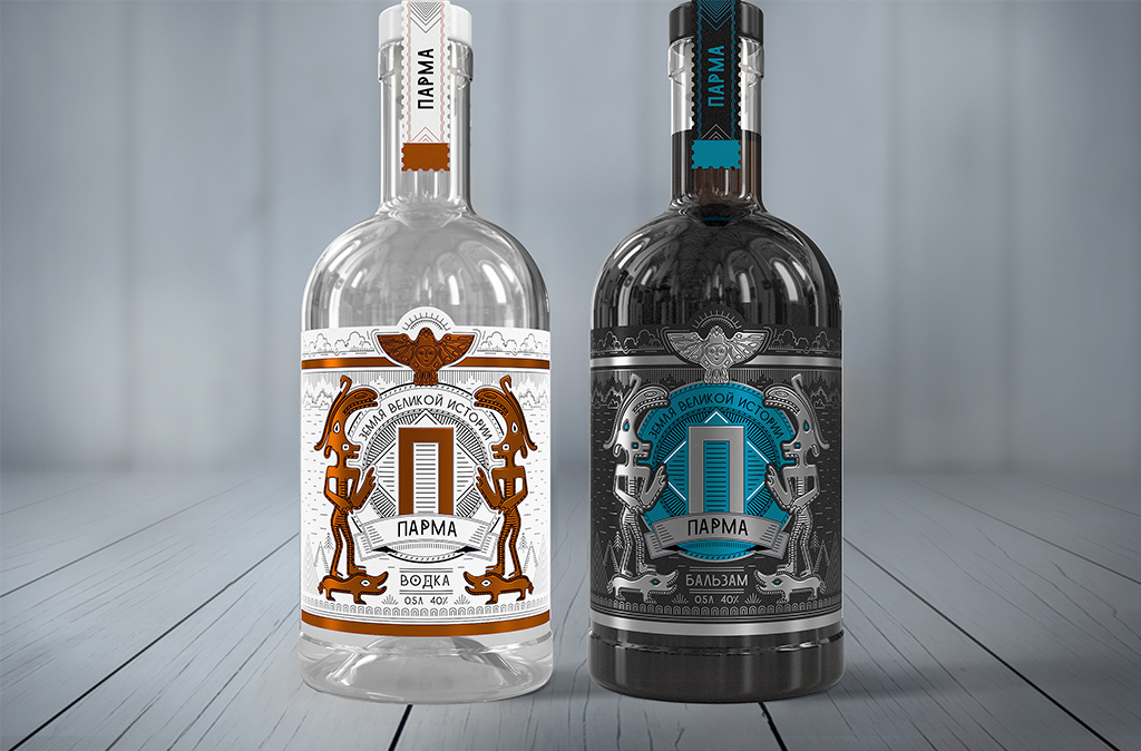 """Unibe Branding Agency Re-launched the """"Parma"""" Brand and Developed Authentic Label Design for Vodka, Gin and Tincture"""