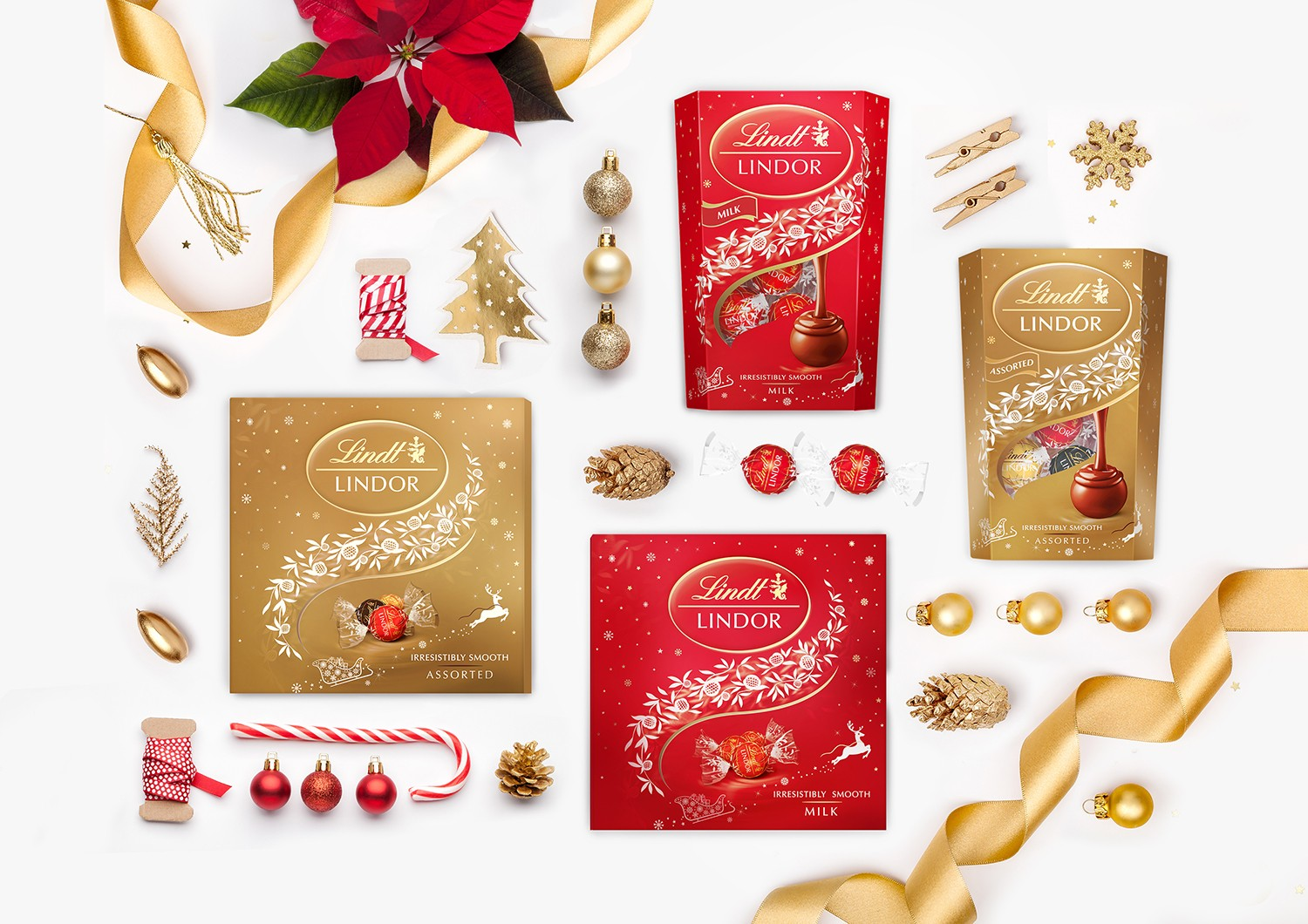 Unibe Branding Agency Prepared New Year and Christmas Packaging Design for Lindt