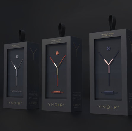 Visual Identity and Packaging Design for YNOIR 18K Earphones