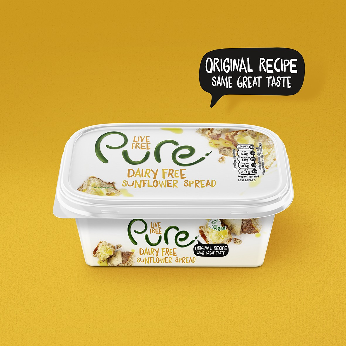Dairy and Gluten Free Spread Packaging Redesign