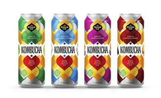 Kombucha Natural Sparkling Drink Packaging Design
