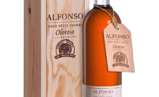 Limited Edition Classic Dry Sherry Bottle and Wooden Box Packaging from Spain