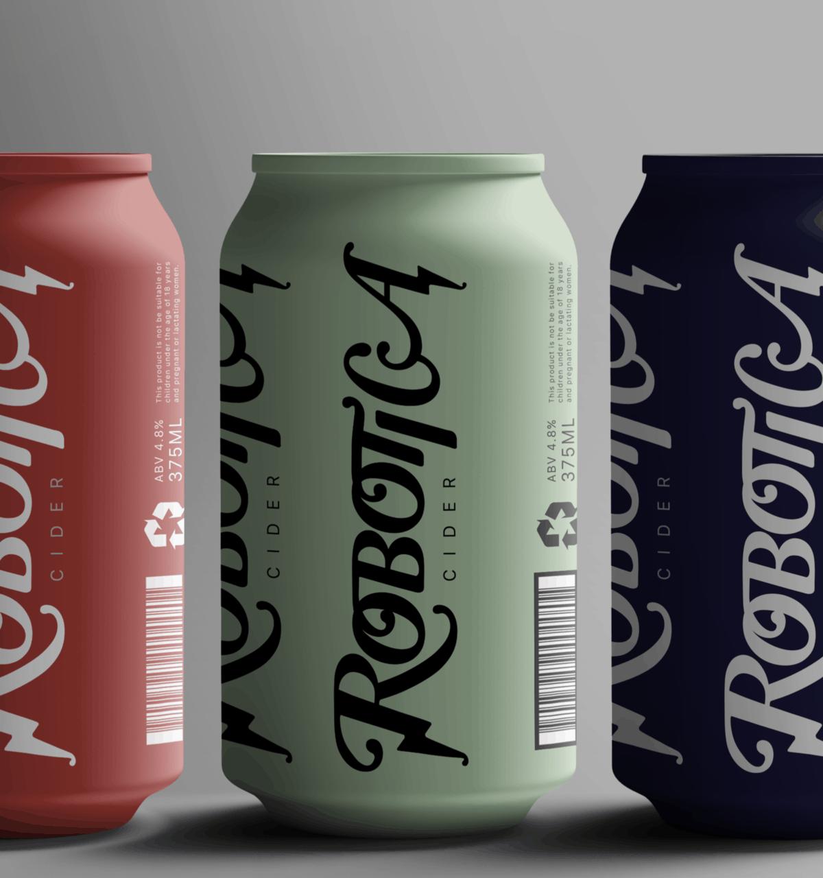 Robotica Cider Logo and Branding