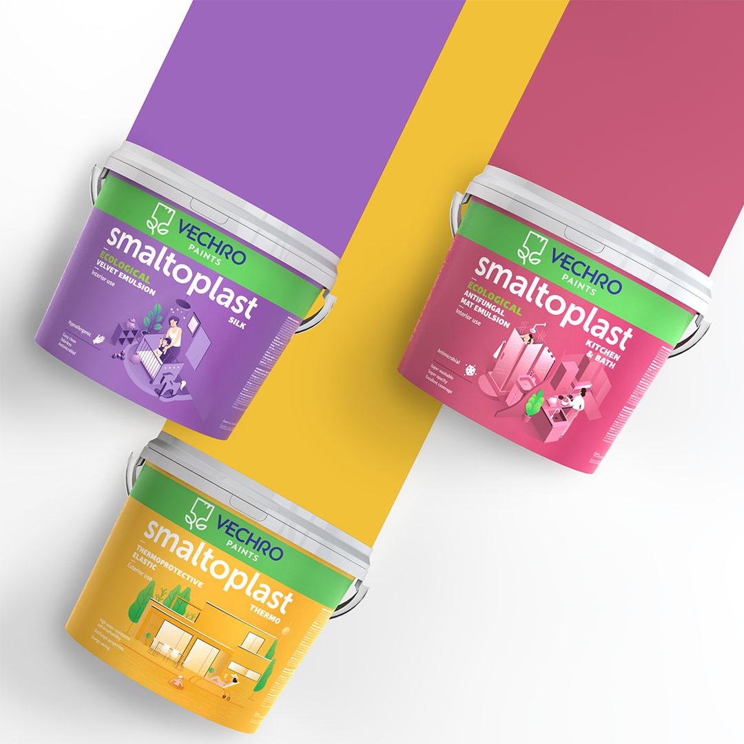 Rebranding Smaltoplast Paints Line