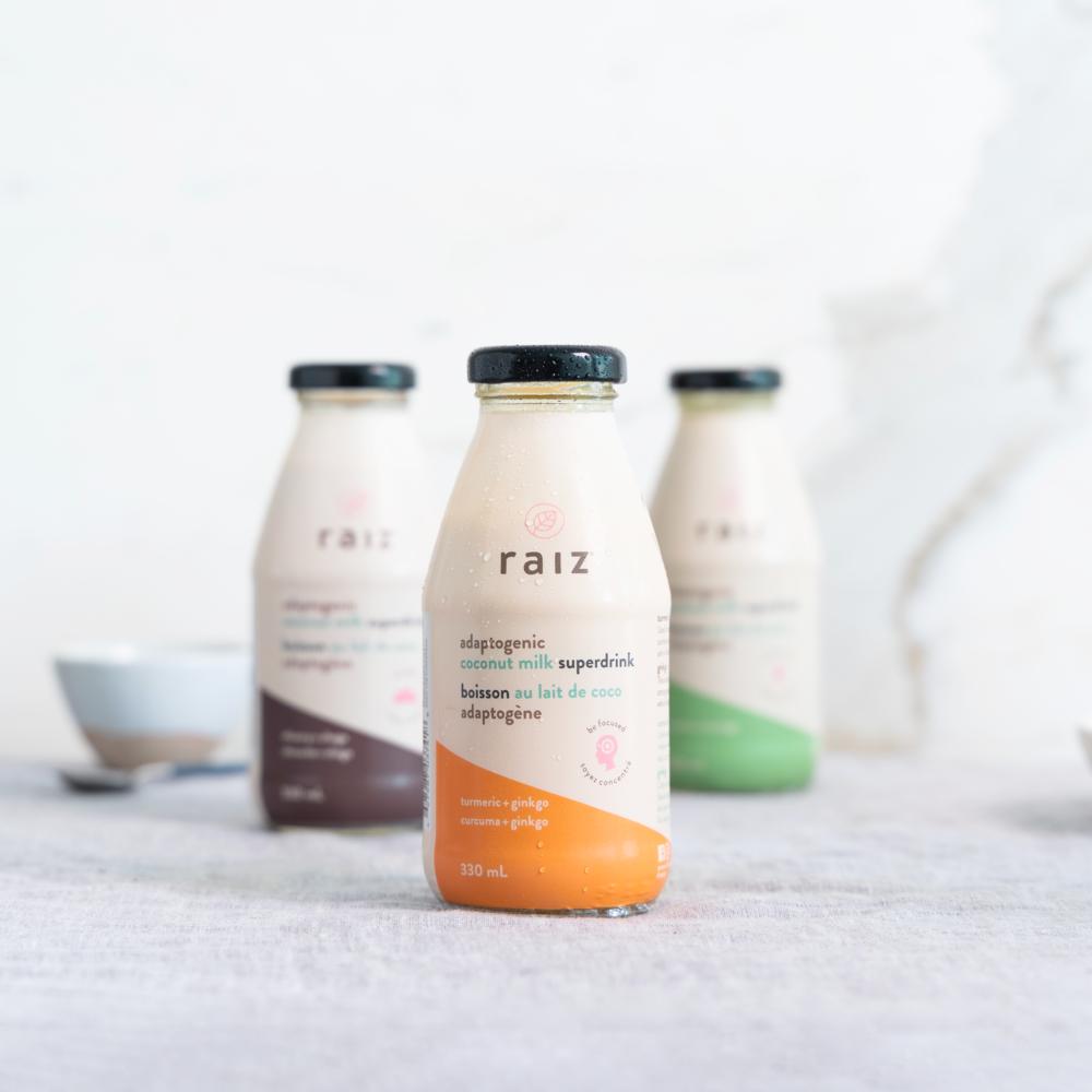 Elegant Brand and Packaging Design for New Line of Adaptogen-infused Coconut Milk BasedDrinks