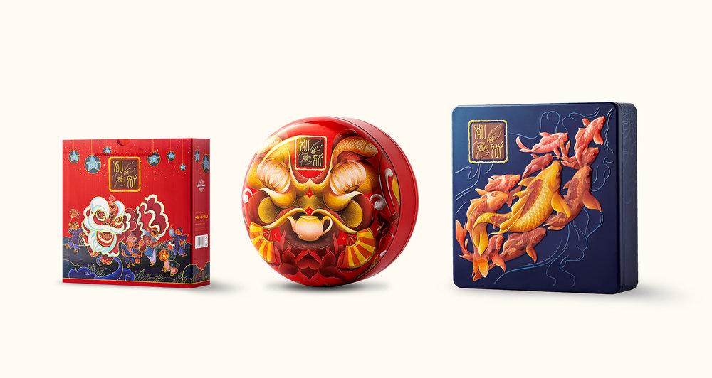 Packaging design for Hai Chau's Mid-autumn Mooncake 2019