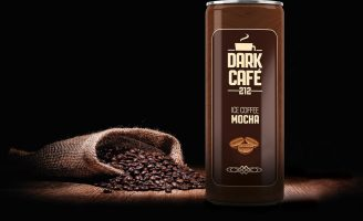 Dark Cafe Ice Coffee Packaging Design