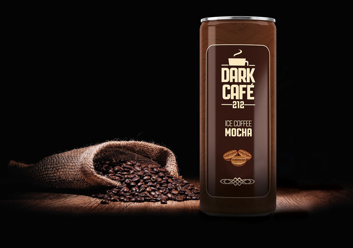 Dark Cafe Ice Coffee Packaging Design