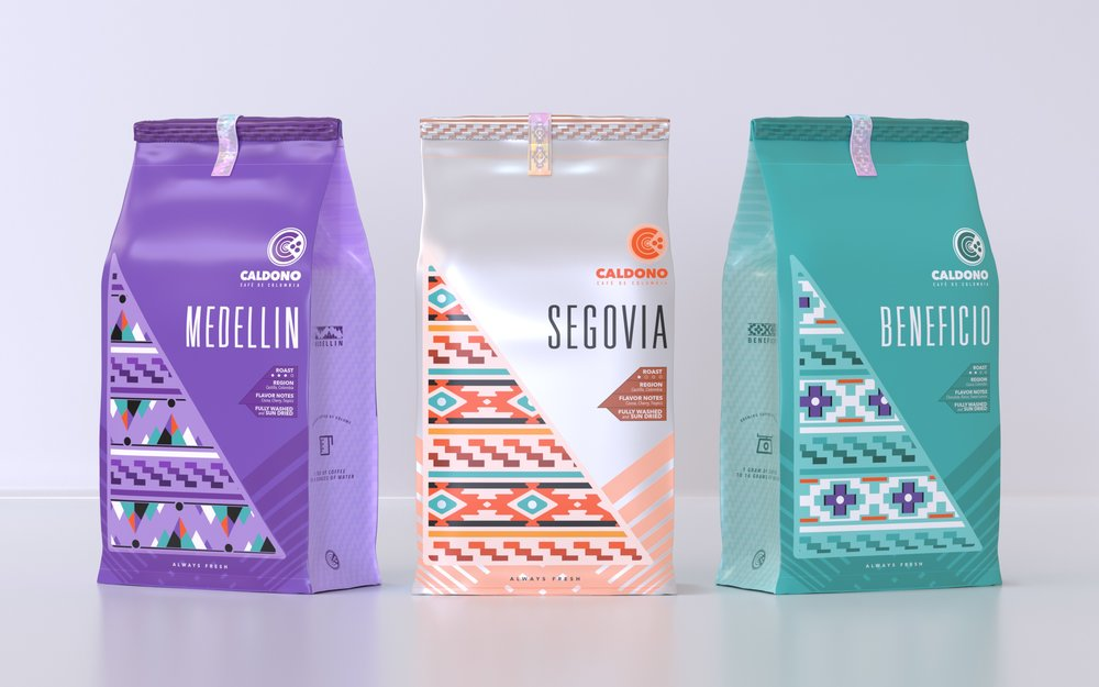 Packaging Design for Imaginary Coffee Brand