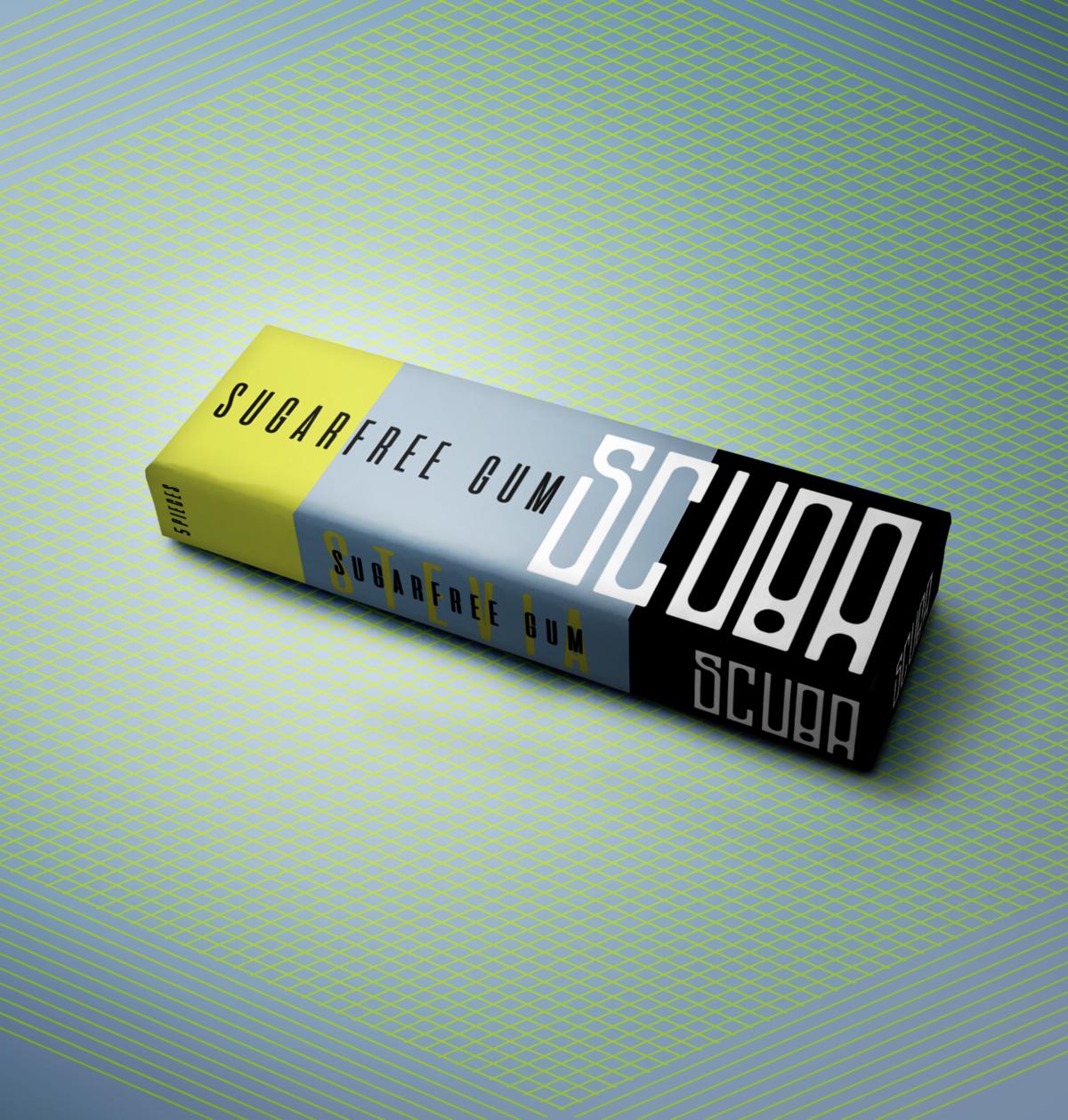 Scuba Gum Logo and Package Design