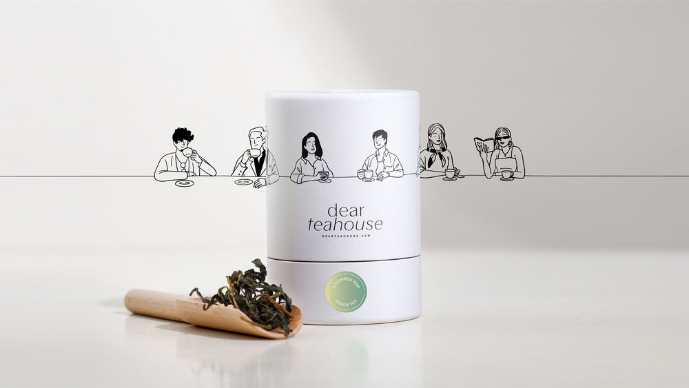 Visual Branding and Packaging for Dear Teahouse, Vietnam