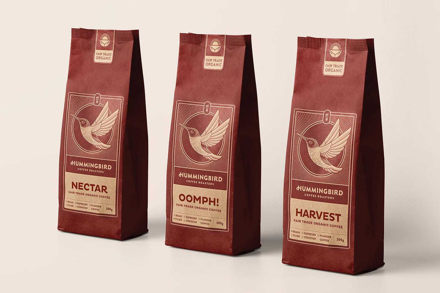 New Brand and Packaging for Hummingbird Coffee Roasters