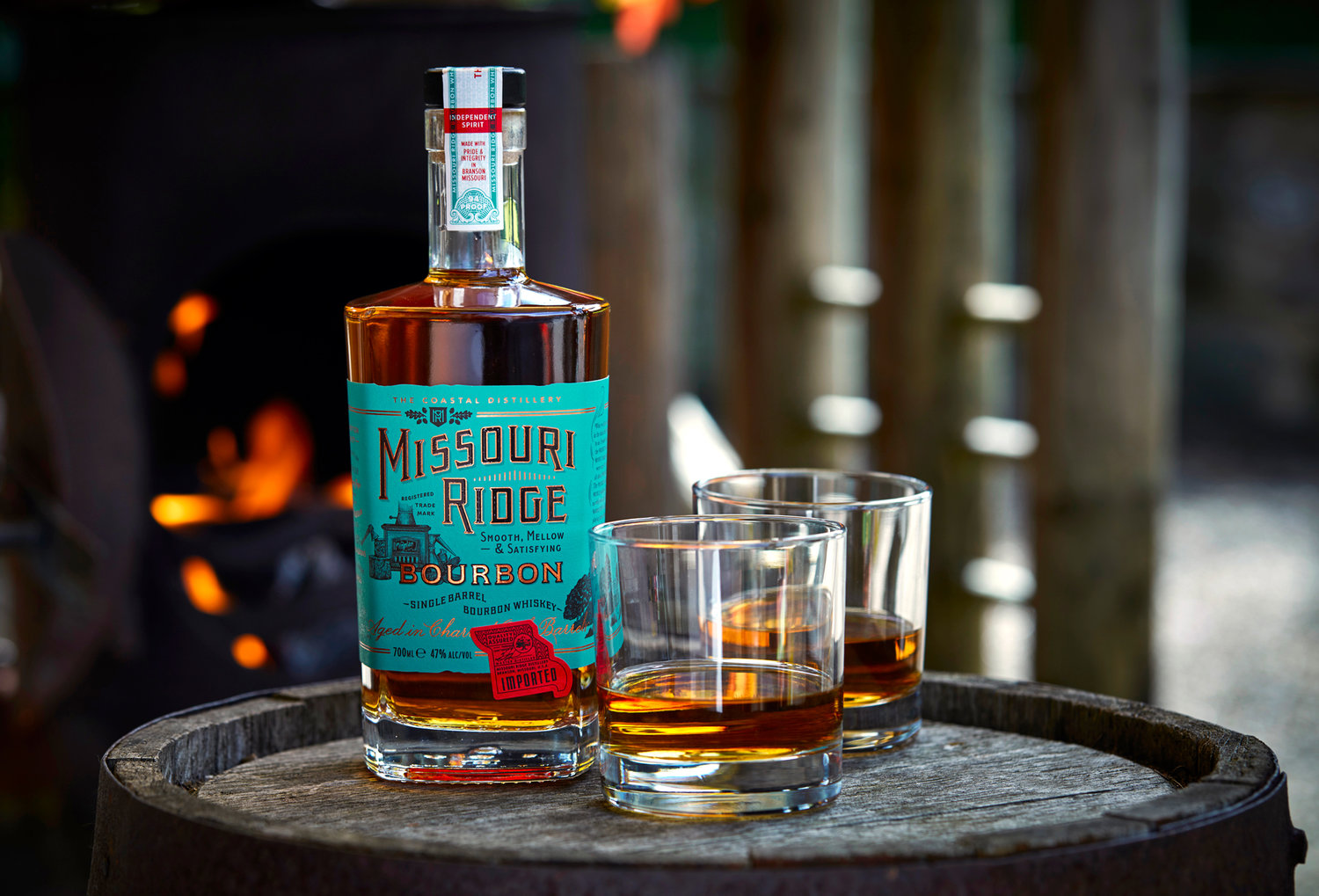 Ginger Monkey Design Creates Eye-catching Missouri Ridge Bourbon Label
