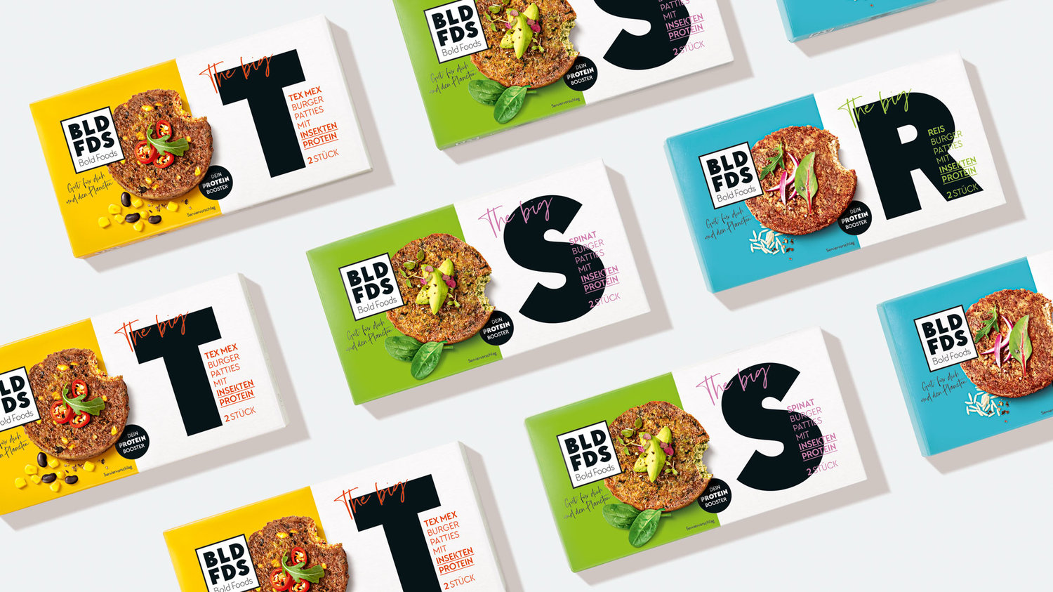 Corporate Brand Development for Bold Foods And Packaging Design for Burgers With Insect Protein