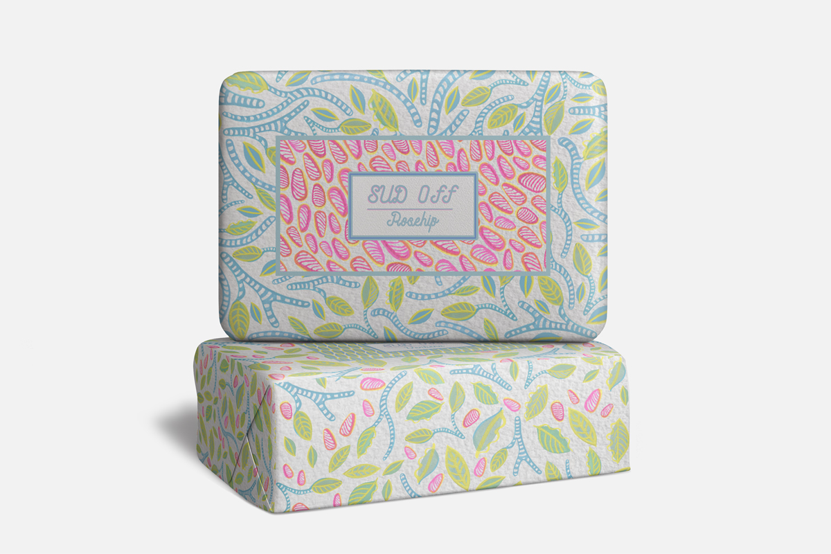 Sud Off Soap Packaging Surface Design