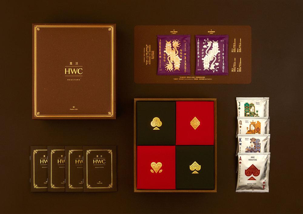 HWC Roasters Branding and Packaging: Poker Kingdom Coffee Gift Box