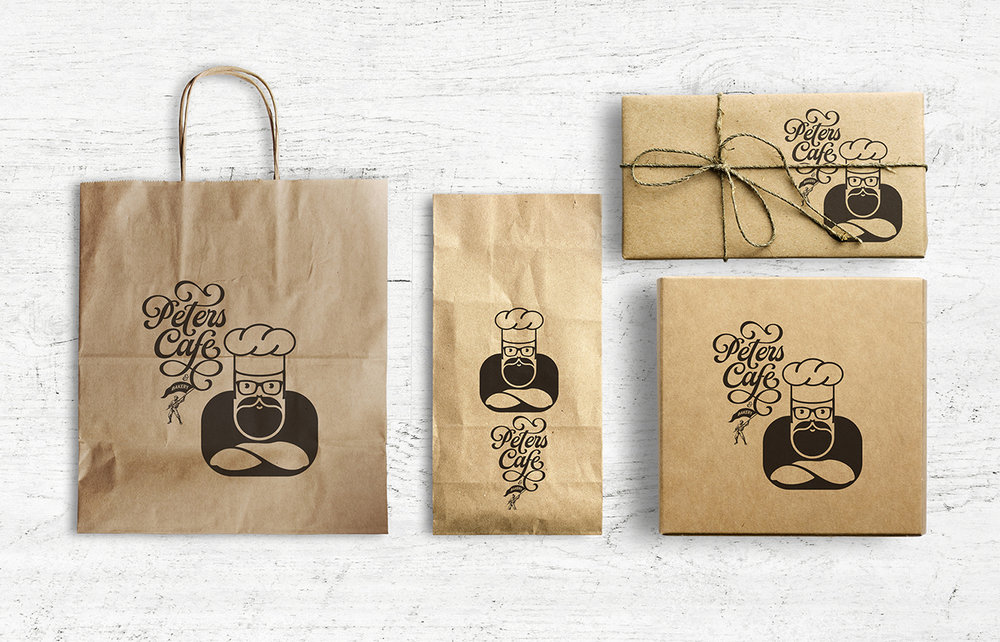 Brand Identity and Packaging Design for Peters Cafe & Bakery