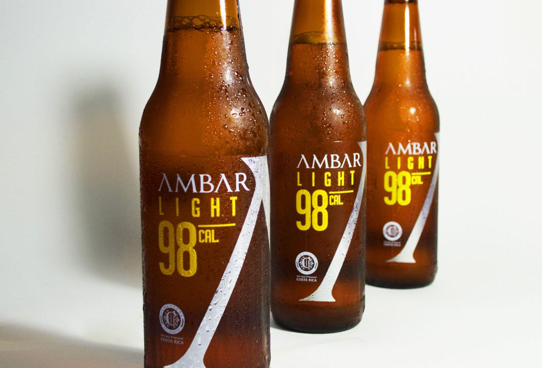 Ambar Light 98 Beer Label