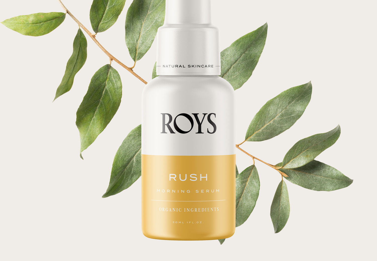 Branding and Packaging Design for Roys Natural Skincare
